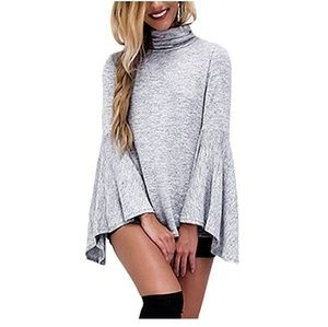 Tops - Bell sleeve turtle neck